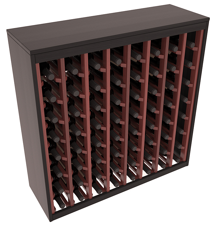 64 Bottle 2 Tone Deluxe Wine Rack