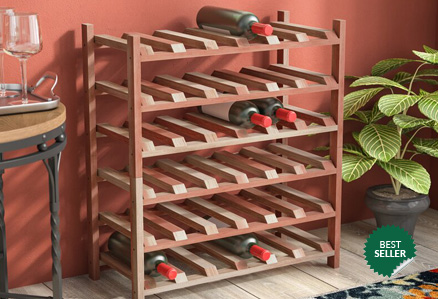 Stacking wood wine racks