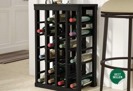 Decorative wood wine rack storage for homes