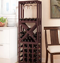Stacking wood lattice wine racks