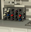 Wood wine racks for kitchen countertops